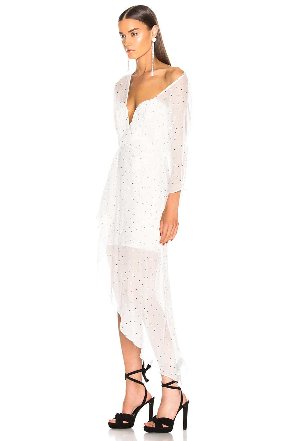 Image 3 of Michelle Mason Bustier Off Shoulder Dress in Ivory