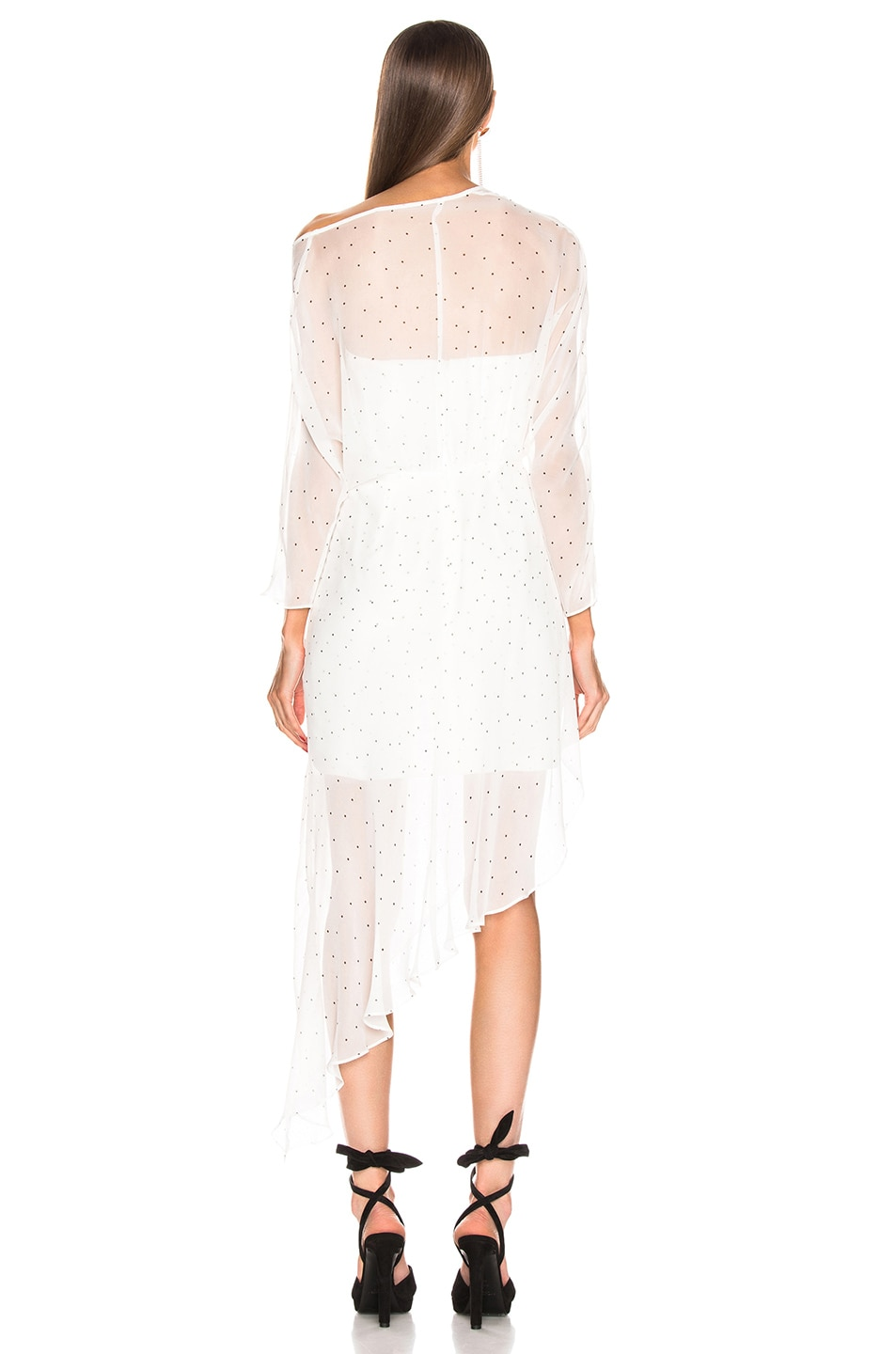 Image 4 of Michelle Mason Bustier Off Shoulder Dress in Ivory