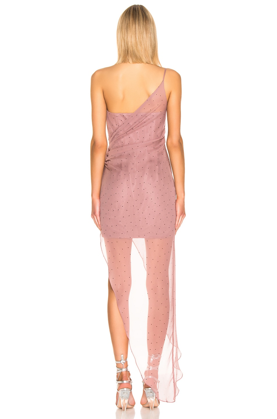 Image 4 of Michelle Mason Bustier Draped Gown in Mauve