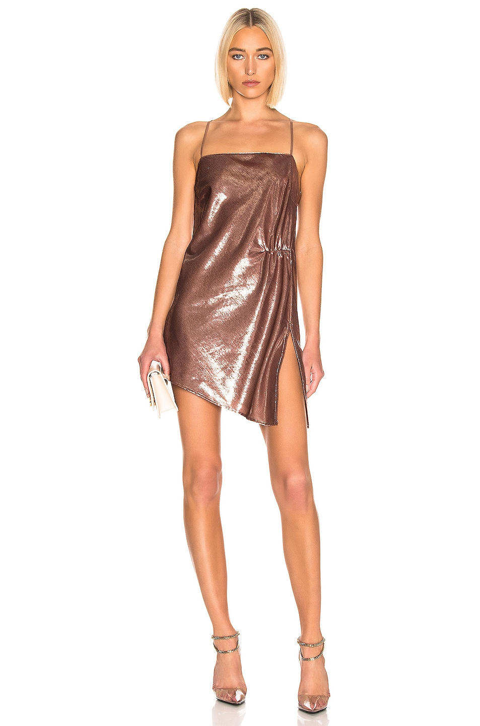 Image 1 of Michelle Mason Mini Shift Dress in Mauve