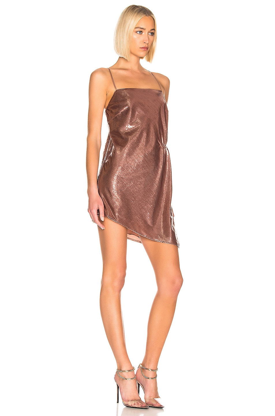 Image 2 of Michelle Mason Mini Shift Dress in Mauve