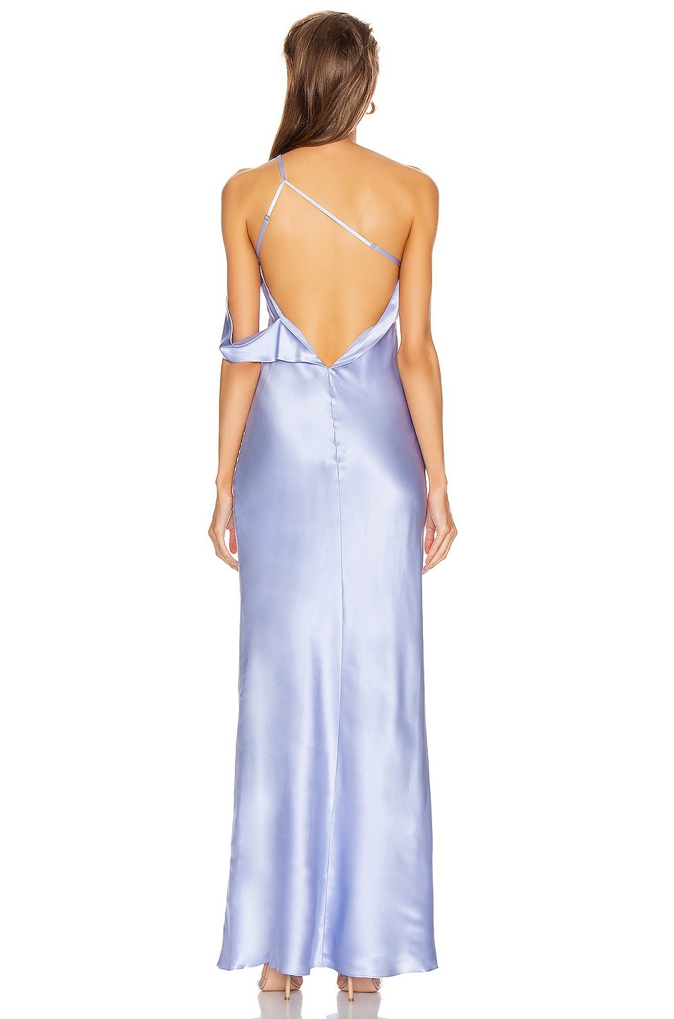 Image 4 of Michelle Mason Gown with Arm Drape in Ice