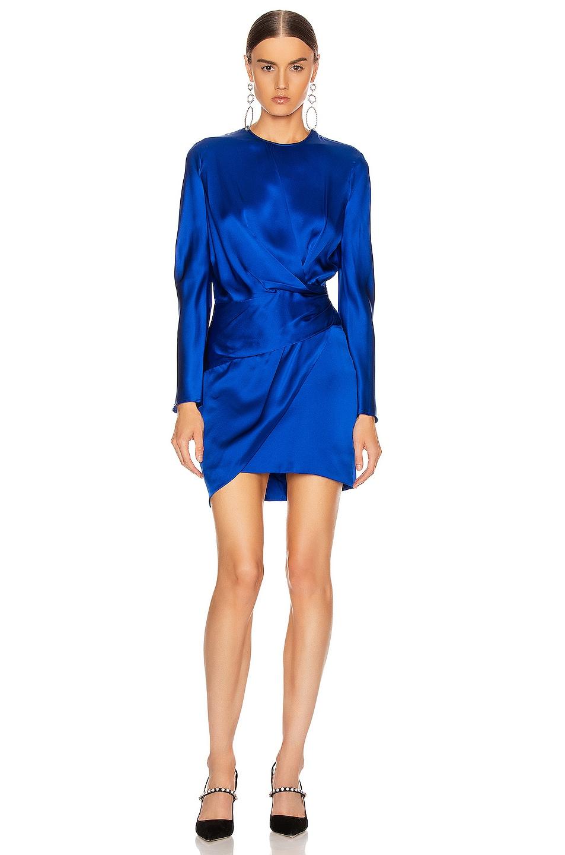 Image 1 of Michelle Mason Origami Mini Dress in Cobalt