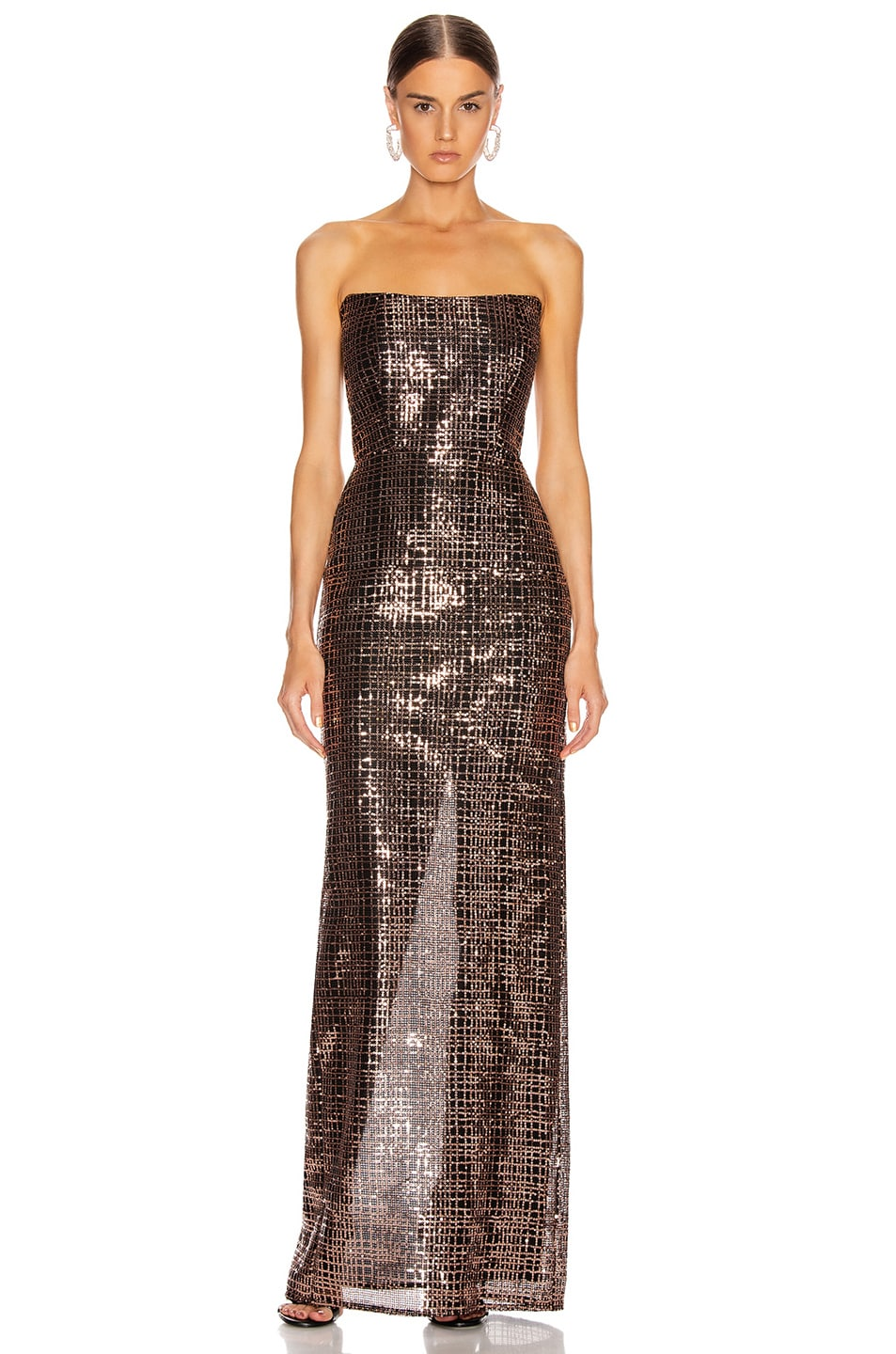 Image 1 of Michelle Mason Corset Gown in Shell