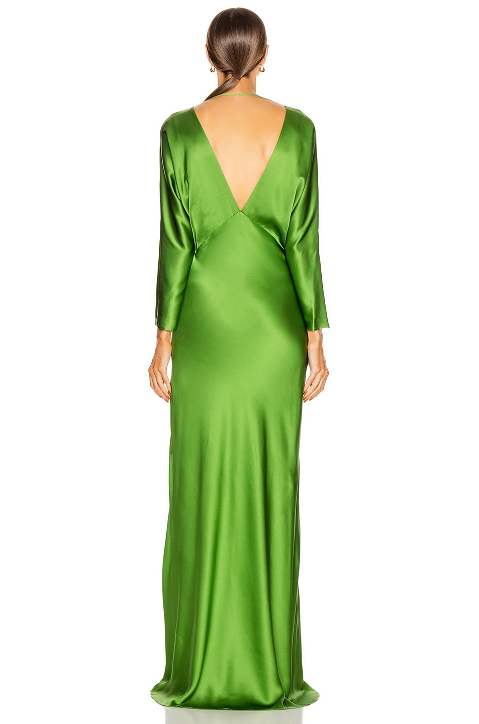 Image 4 of Michelle Mason Dolman Sleeve Gown in Clover