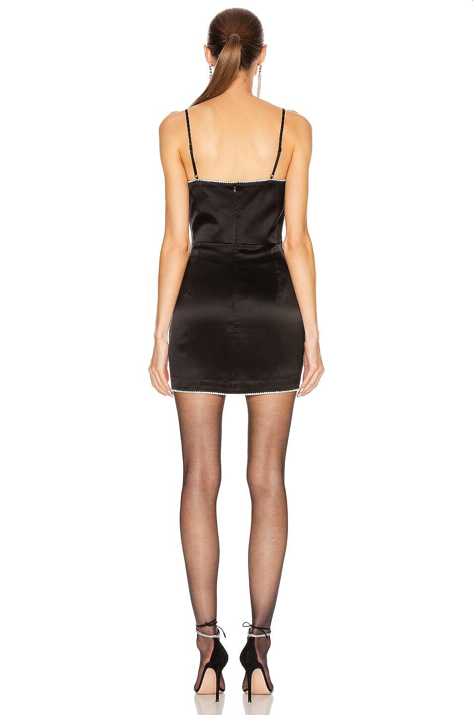 Image 3 of Michelle Mason Crystal Mini Dress in Black