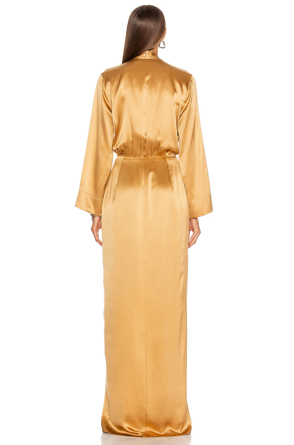 Image 3 of Michelle Mason for FWRD Kimono Tie Gown in Honey