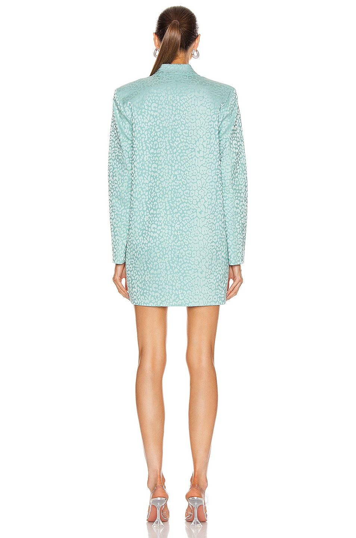 Image 3 of Michelle Mason Oversized Blazer Dress in Cerulean