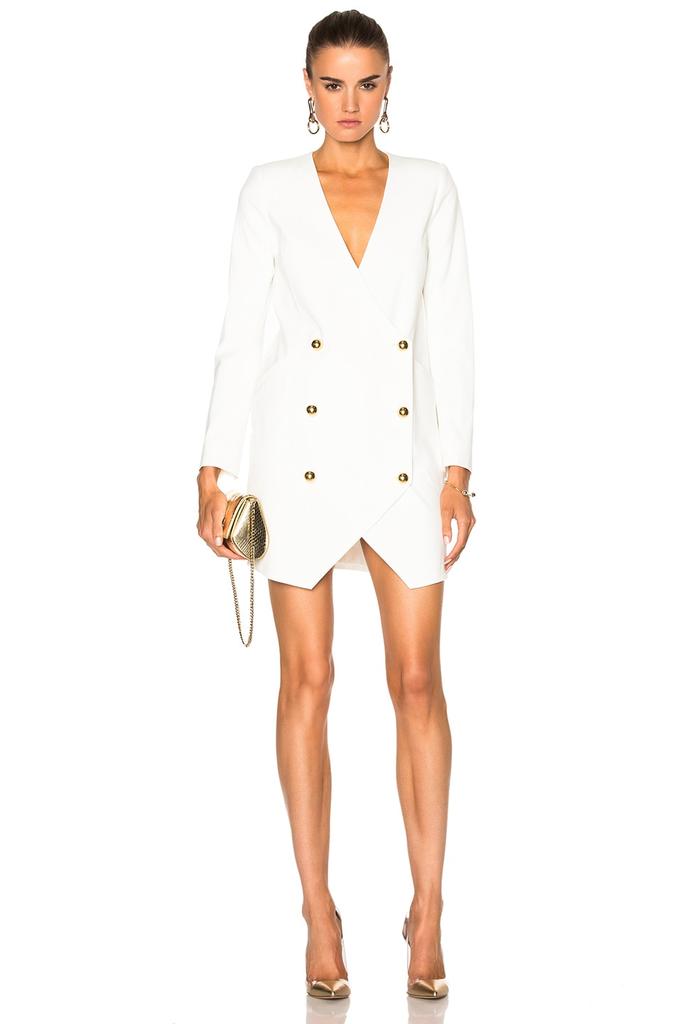 Image 1 of Michelle Mason Blazer Dress in Ivory