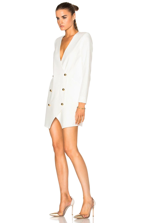 Image 2 of Michelle Mason Blazer Dress in Ivory