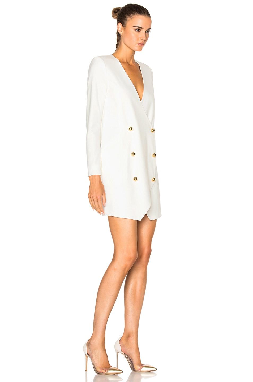 Image 3 of Michelle Mason Blazer Dress in Ivory