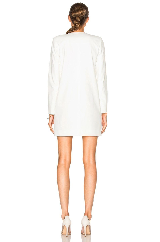 Image 4 of Michelle Mason Blazer Dress in Ivory