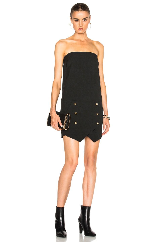 43296fcb32646 Image 1 of Michelle Mason Strapless Mini Dress in Black