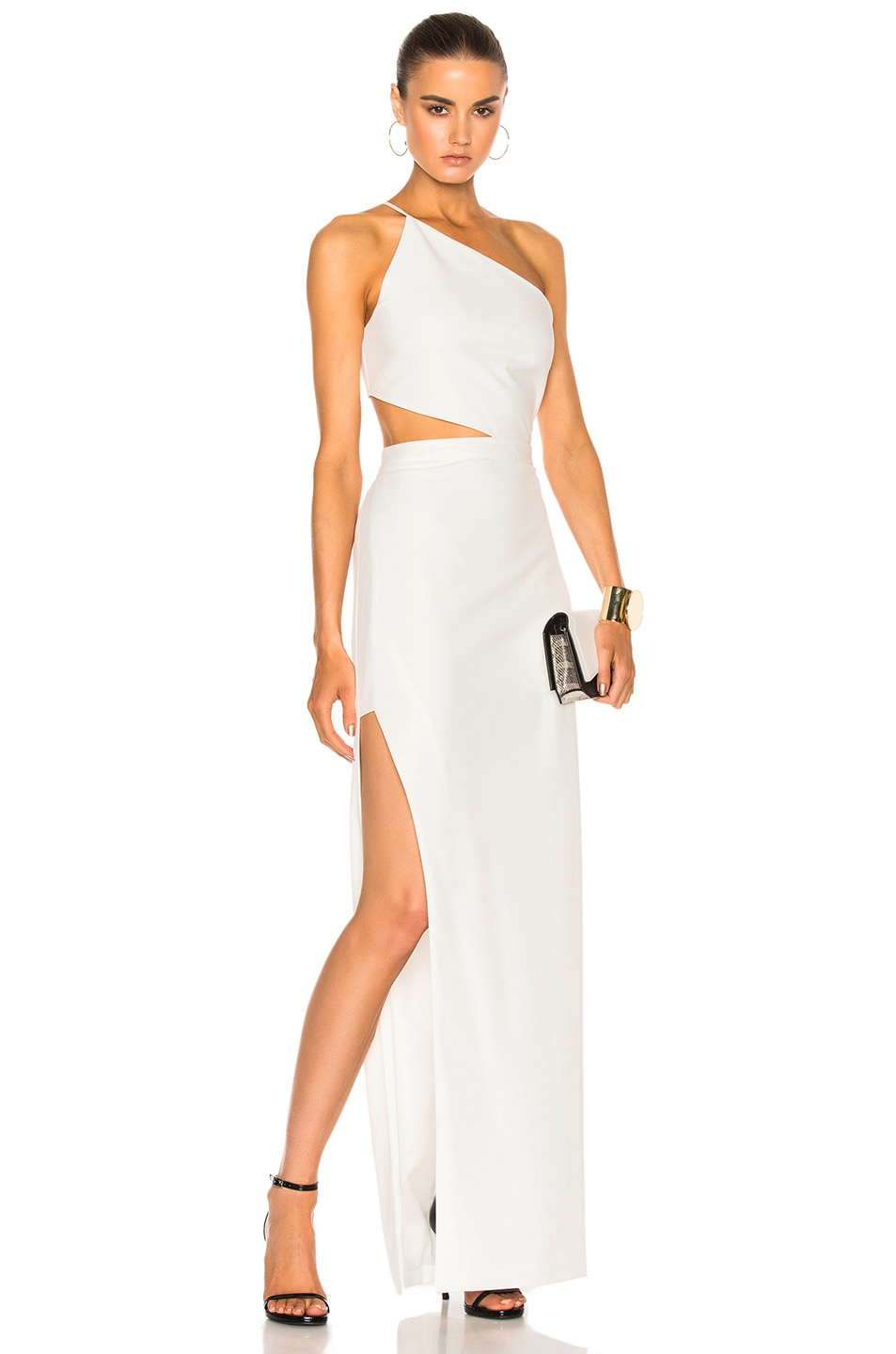 Image 1 of Michelle Mason Asymmetrical Bandeau Gown in Ivory