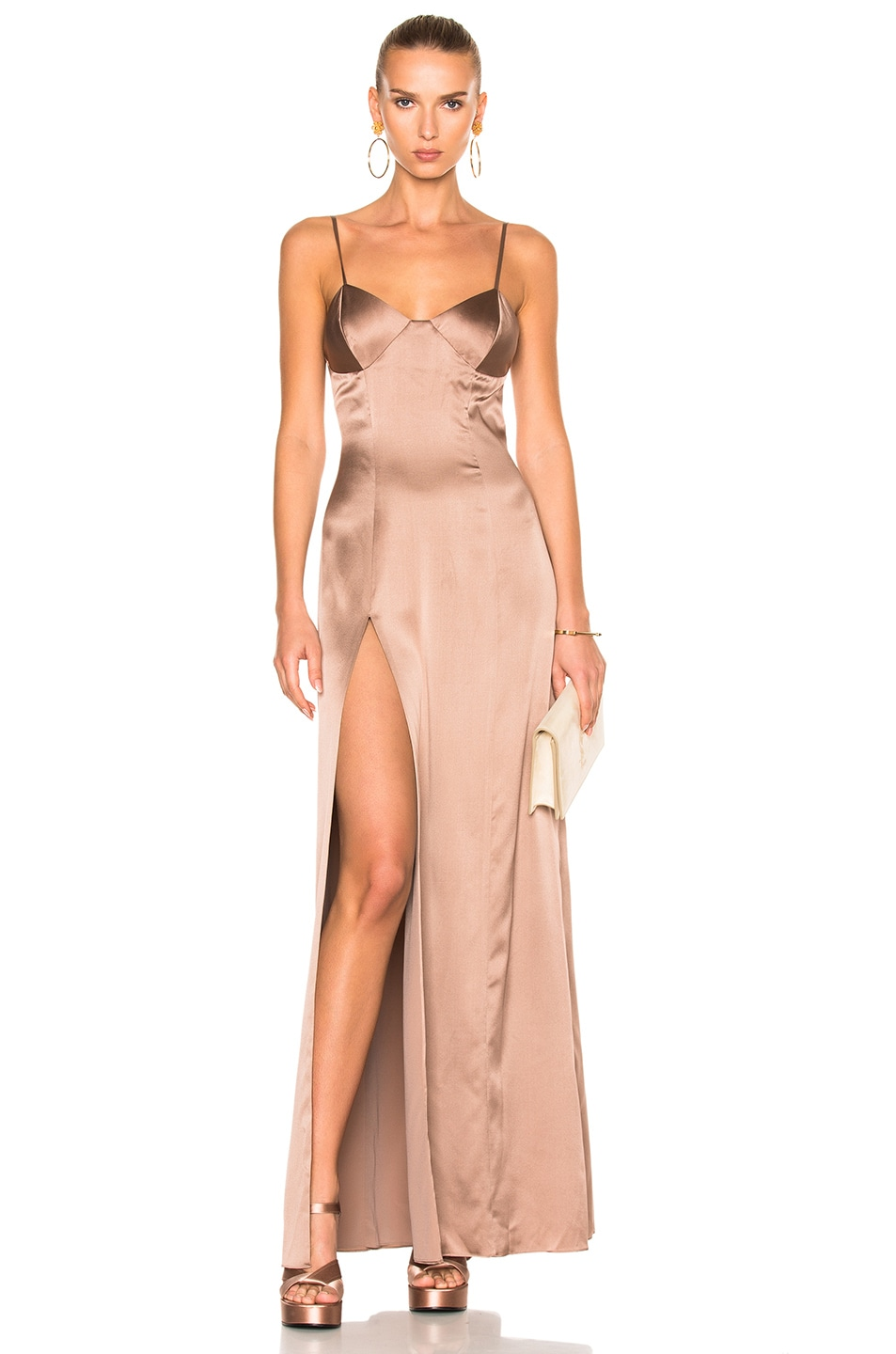 Image 1 of Michelle Mason x FWRD Exclusive Bustier Gown in Mink