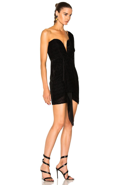 One Shoulder Dress in Black Michelle Mason fPgPGbAI