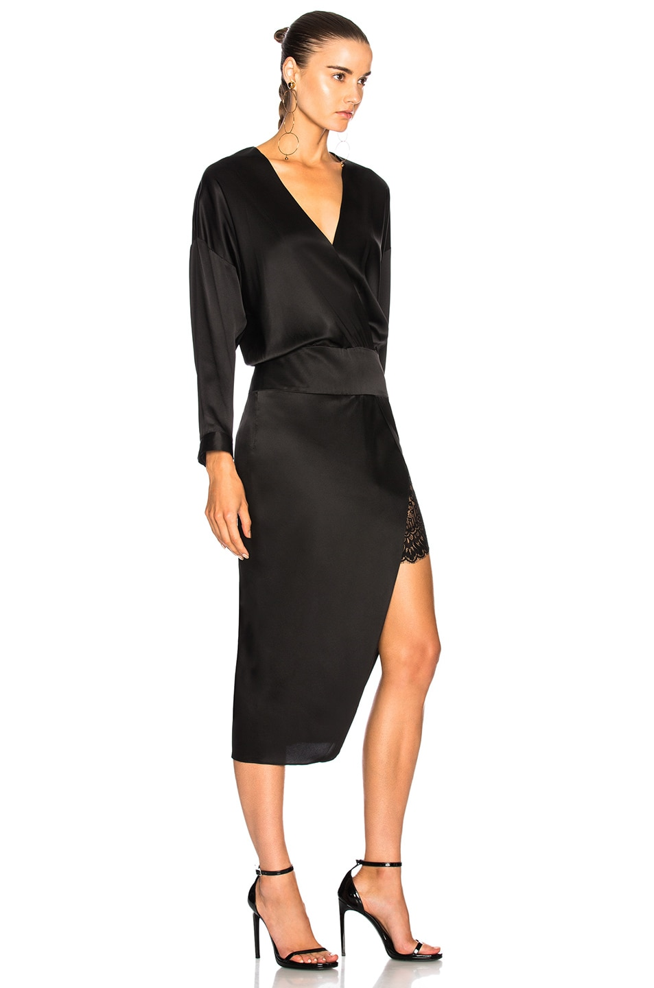 Image 2 of Michelle Mason Obi Dress in Black
