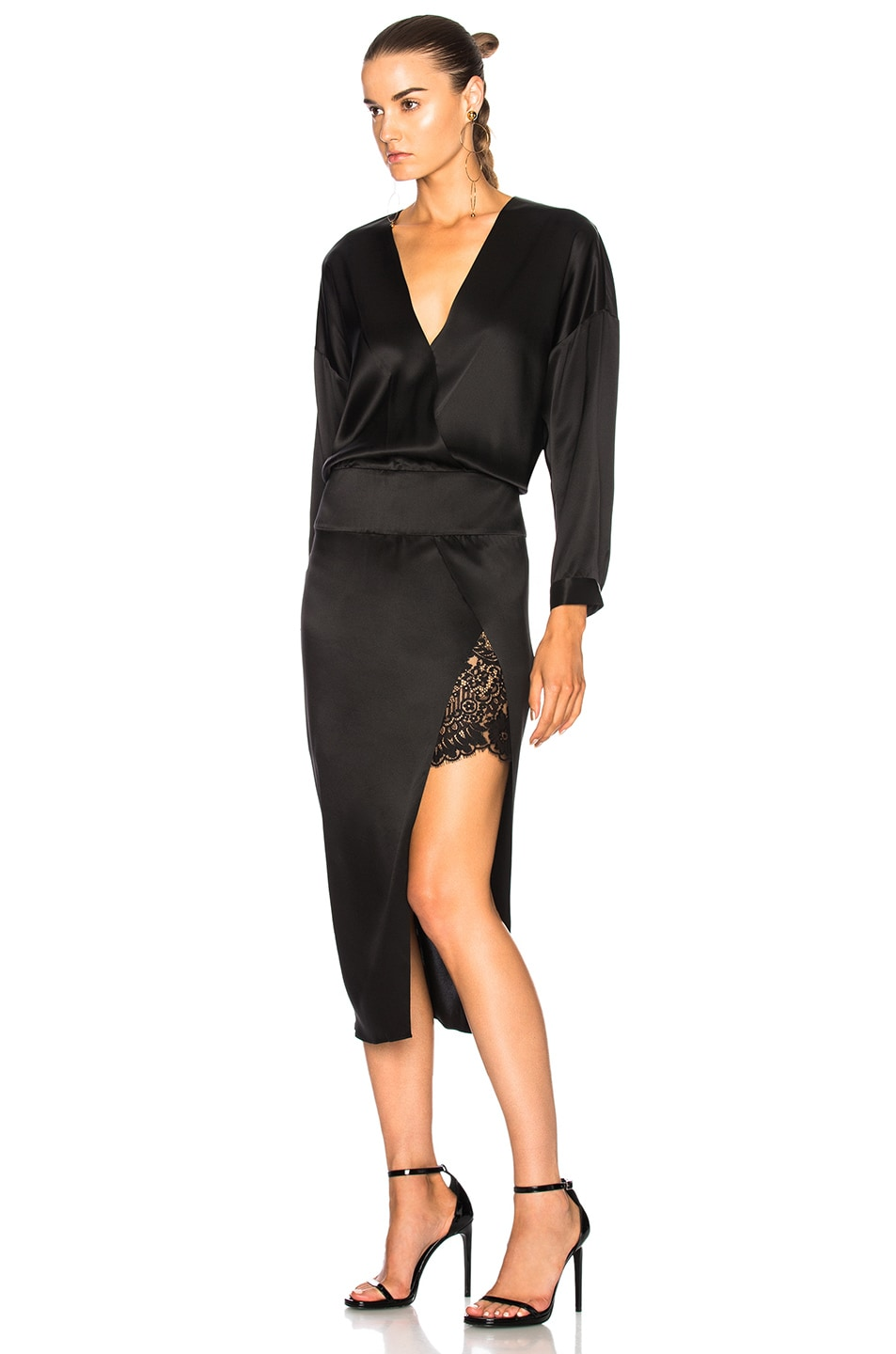 Image 3 of Michelle Mason Obi Dress in Black