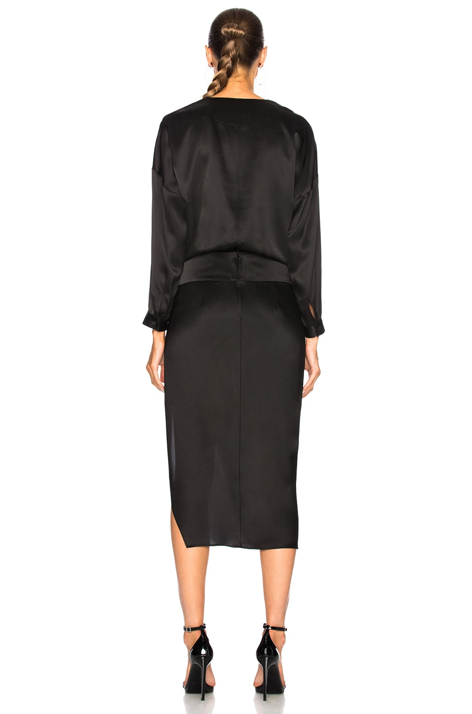 Image 4 of Michelle Mason Obi Dress in Black