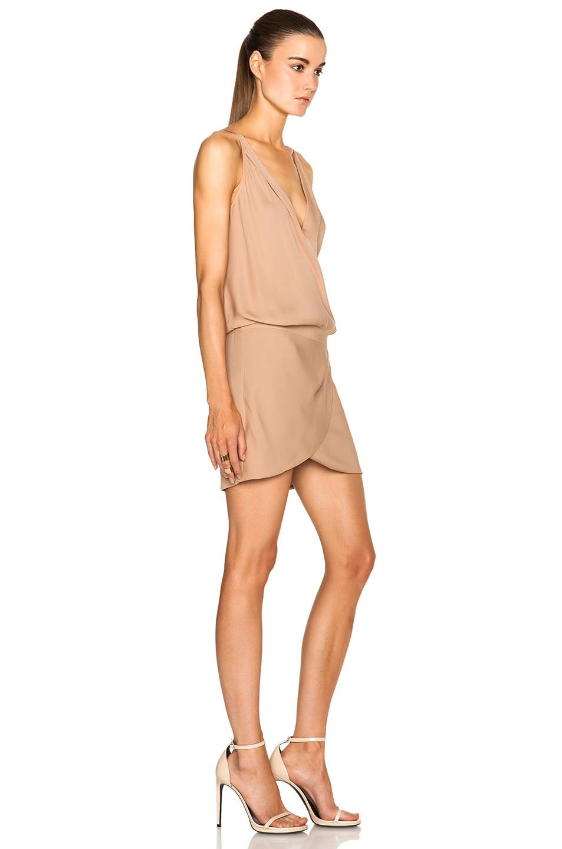 03b57ada6fe Image 3 of Michelle Mason Cami Wrap Silk Mini Dress in Nude