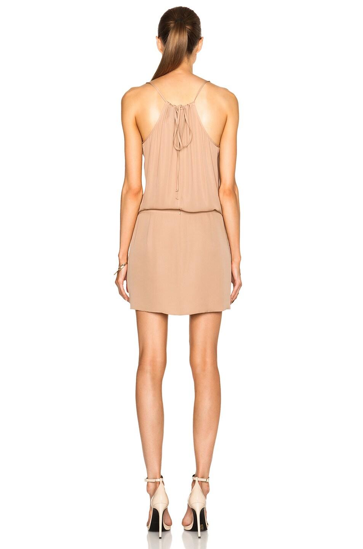 d66ea975977 Image 4 of Michelle Mason Cami Wrap Silk Mini Dress in Nude
