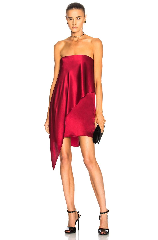 286b8af5f5888 Image 1 of Michelle Mason for FWRD Strapless Dress in Garnet