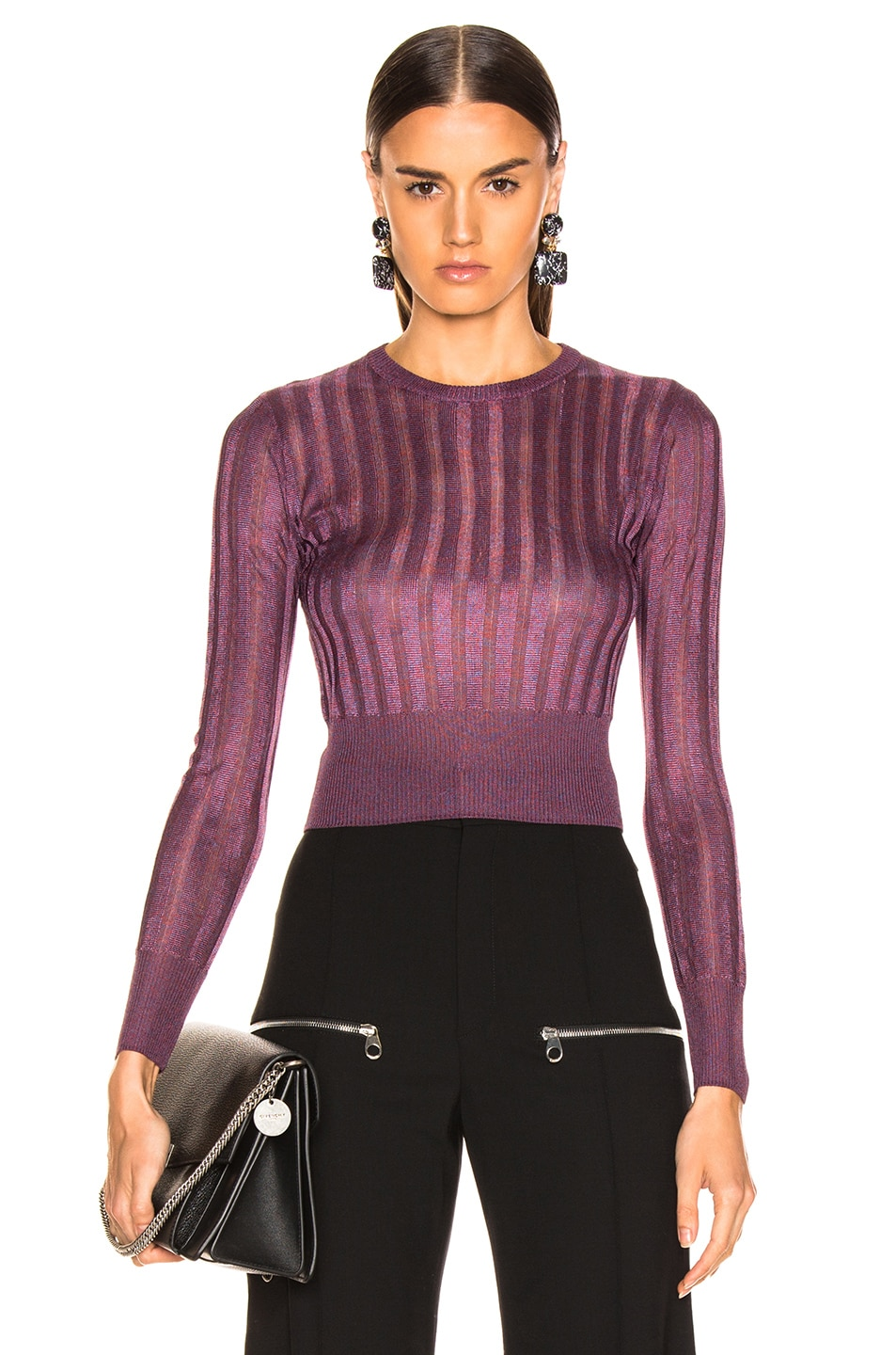 Image 1 of Michelle Mason Cropped Sweater in Cayenne