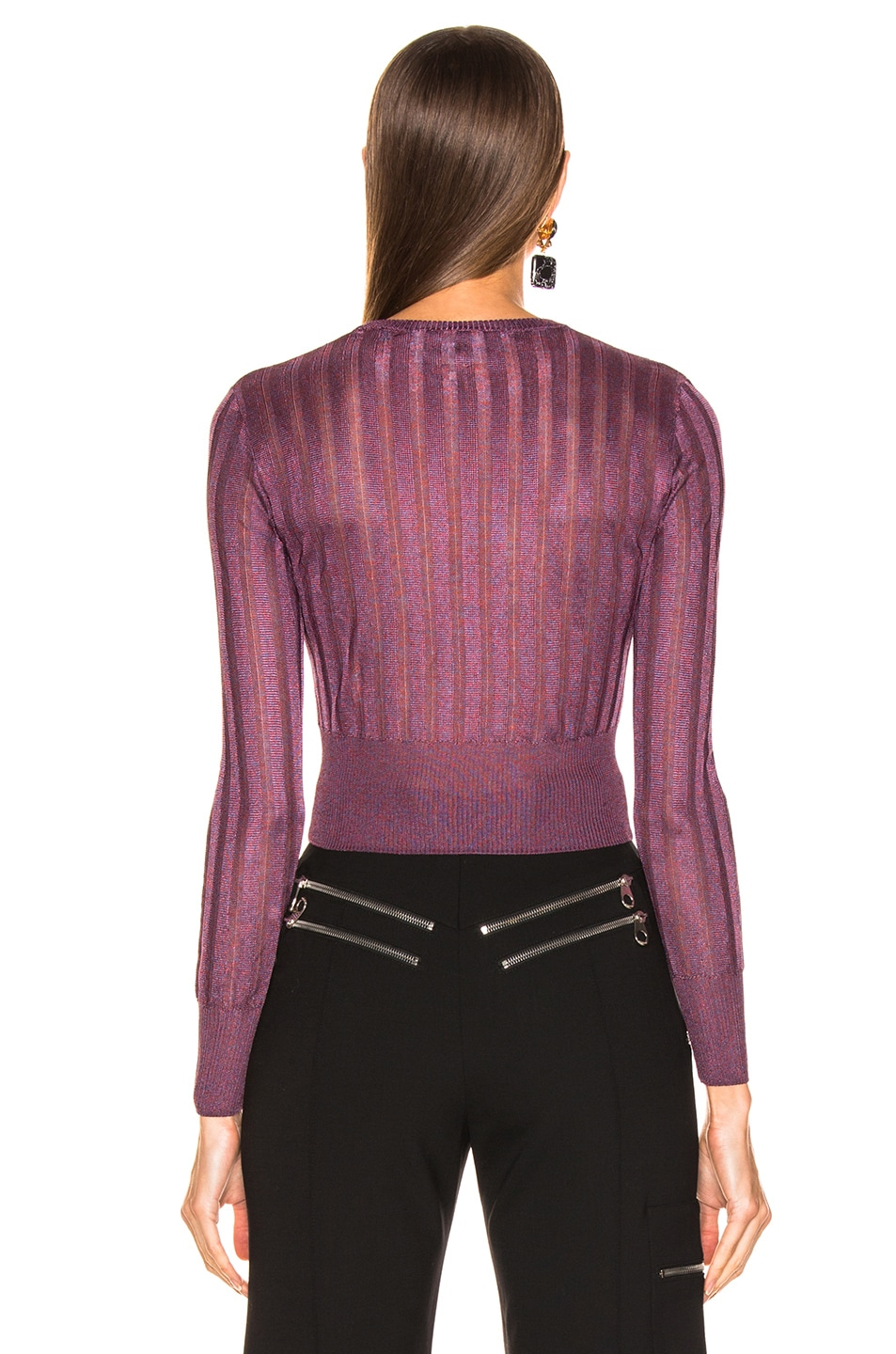 Image 3 of Michelle Mason Cropped Sweater in Cayenne
