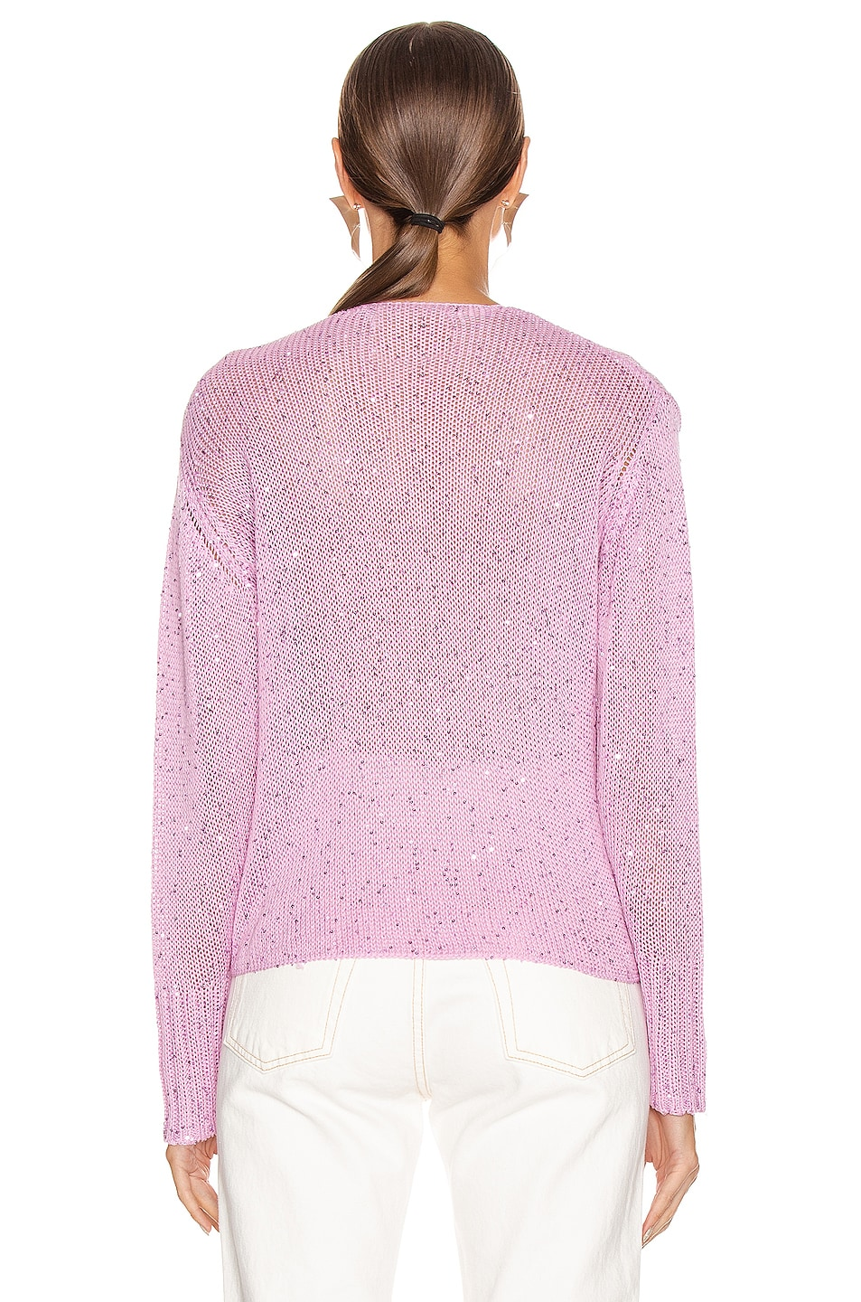 Image 3 of Michelle Mason Cross Wrap Sweater in Bubblegum