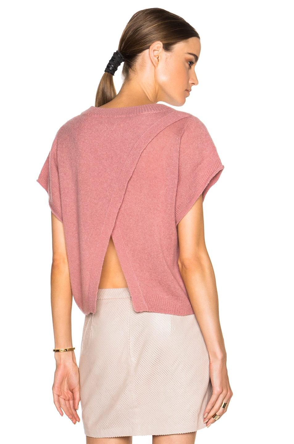 Image 1 of Mason by Michelle Mason Cropped Oversized Sweater in Rose