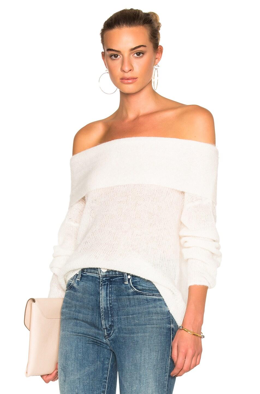Michelle Mason Off Shoulder Sweater in Ivory | FWRD