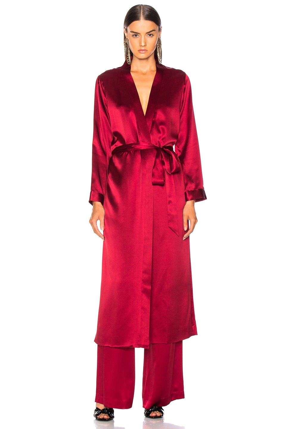 Image 2 of Michelle Mason for FWRD Robe With Slits in Blood