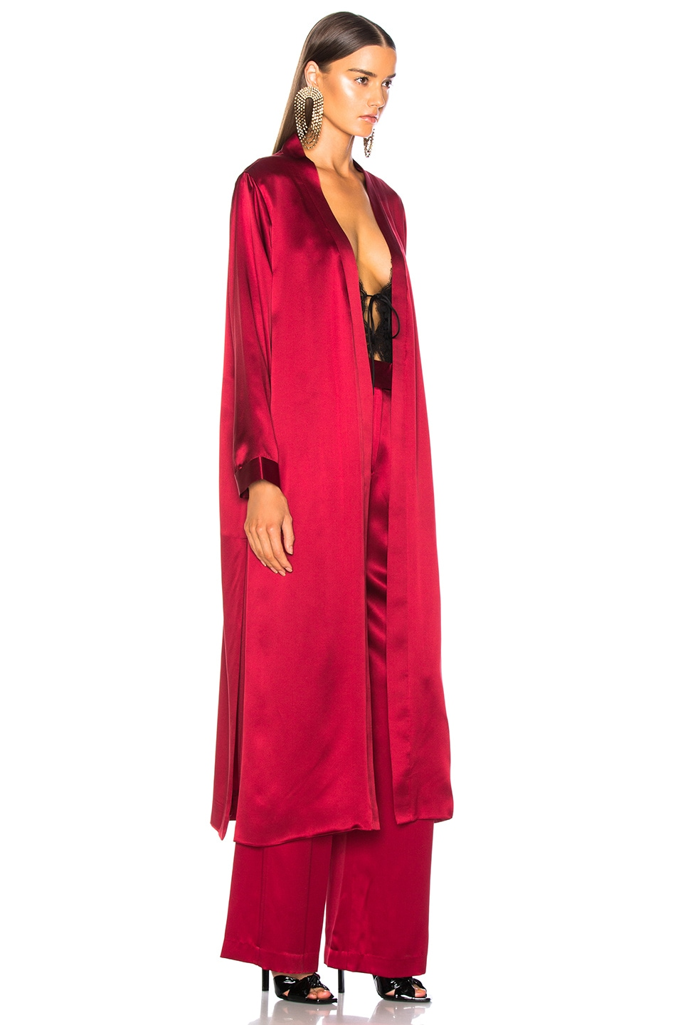 Image 3 of Michelle Mason for FWRD Robe With Slits in Blood