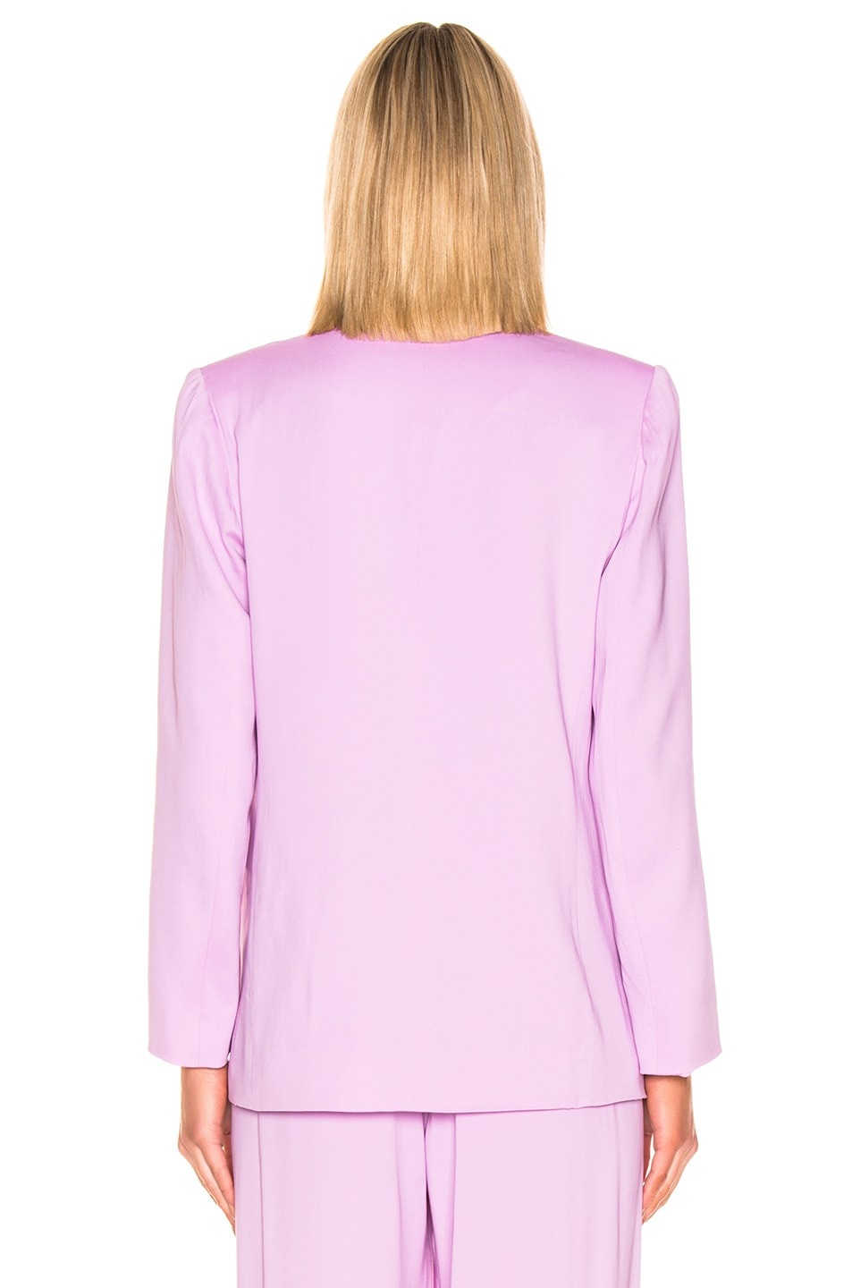 Image 4 of Michelle Mason Collarless Jacket in Lilac