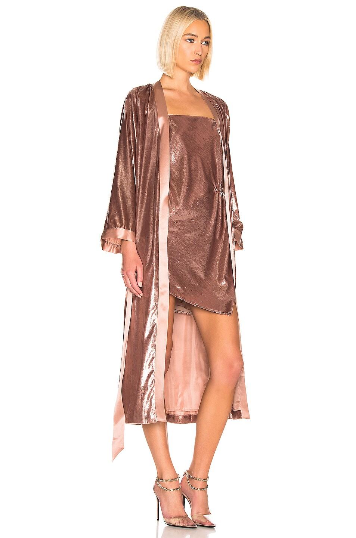 Image 3 of Michelle Mason Kimono Coat in Mauve