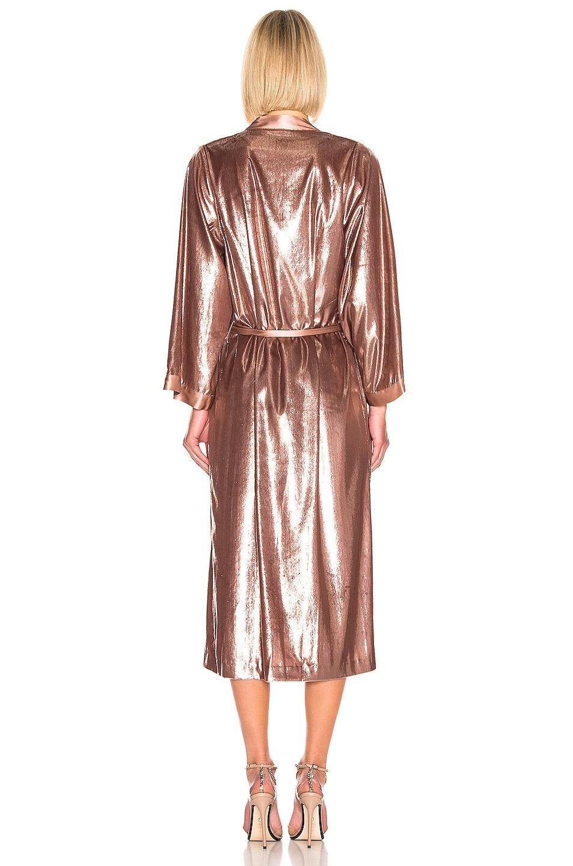 Image 4 of Michelle Mason Kimono Coat in Mauve