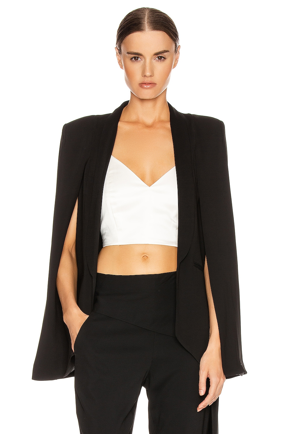 Image 1 of Michelle Mason Cape Blazer in Black