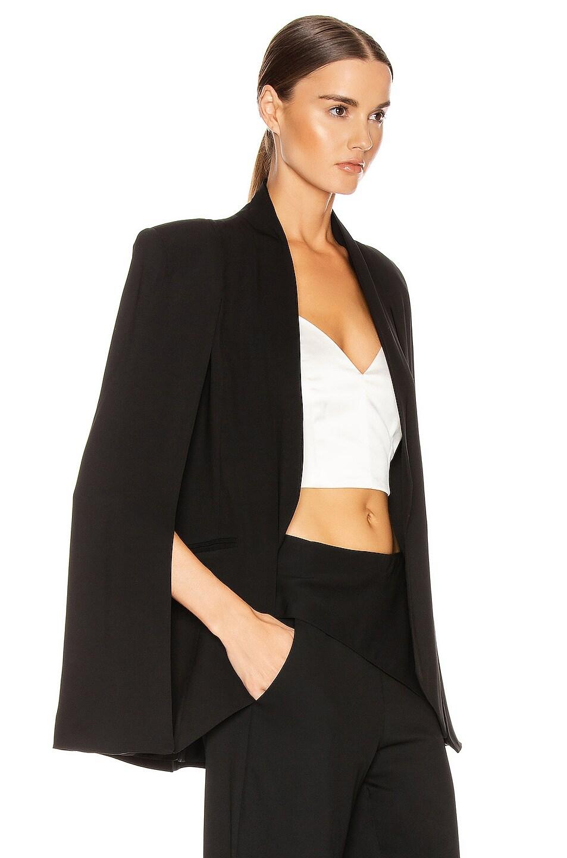 Image 2 of Michelle Mason Cape Blazer in Black