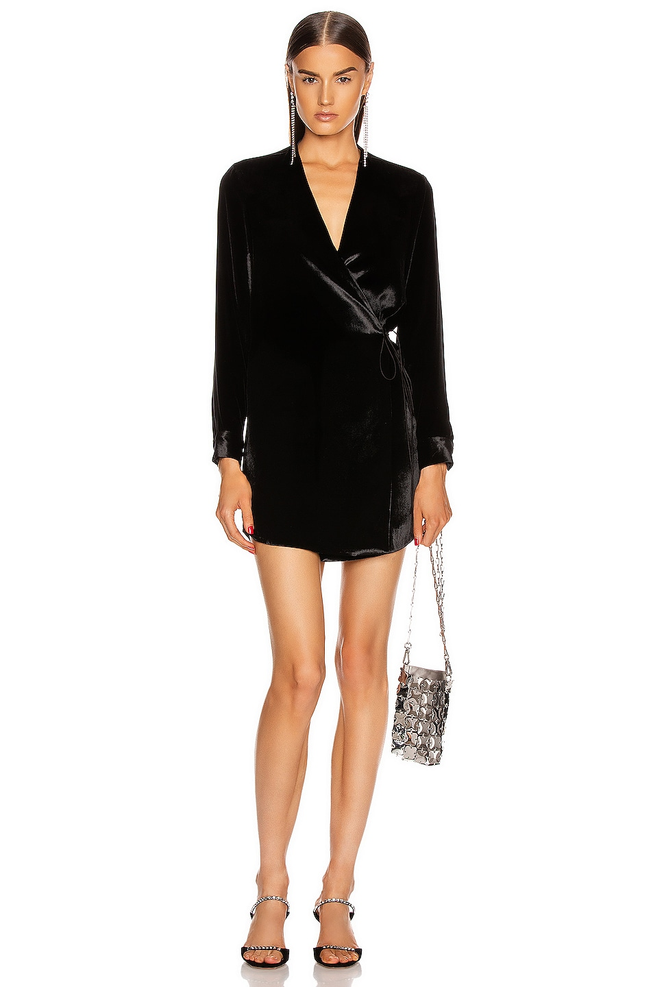 Image 1 of Michelle Mason for FWRD Dress Jacket in Black Solid
