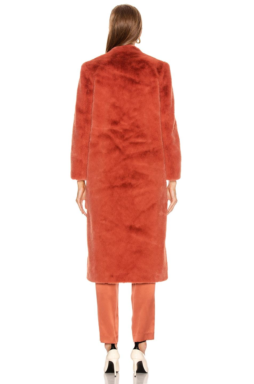 Image 4 of Michelle Mason Faux Fur Coat in Dune