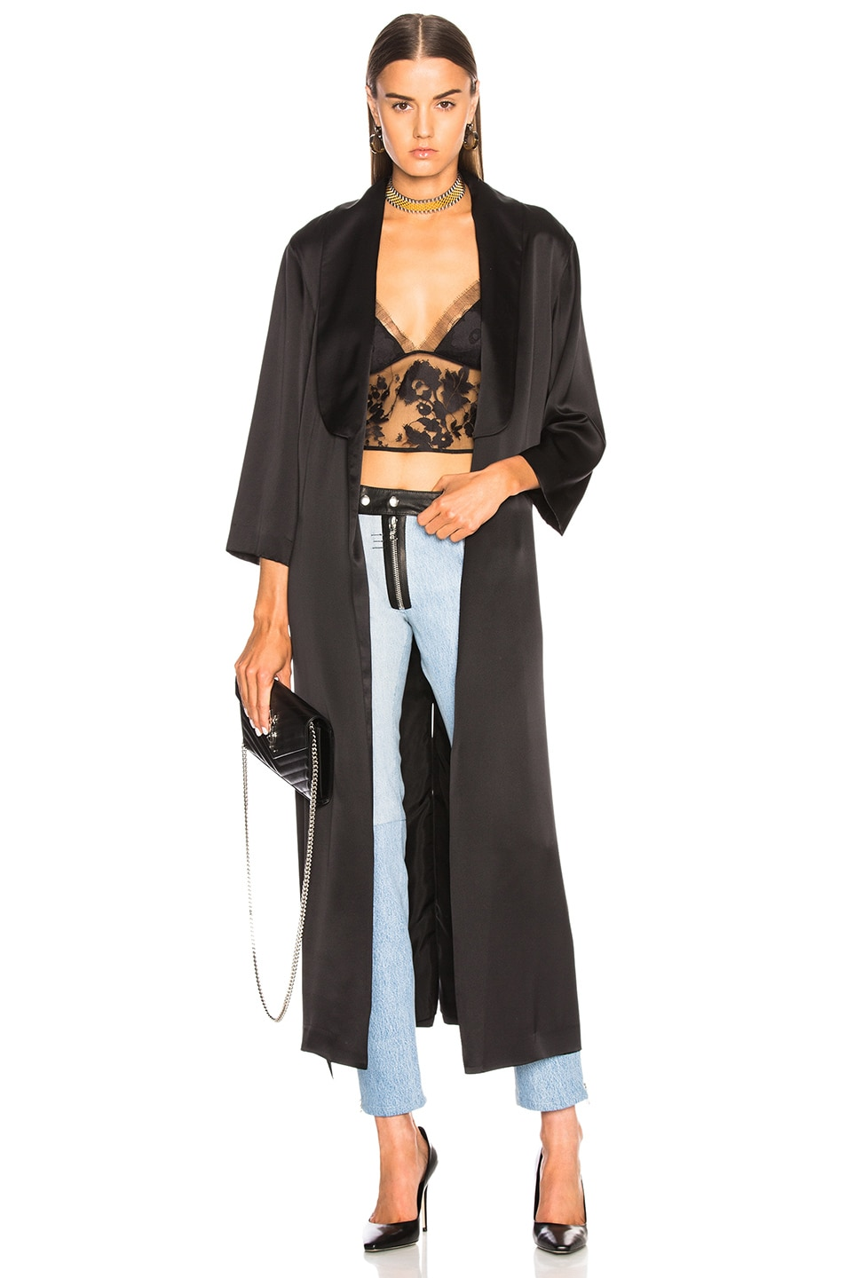 Image 1 of Michelle Mason Smocking Duster in Black