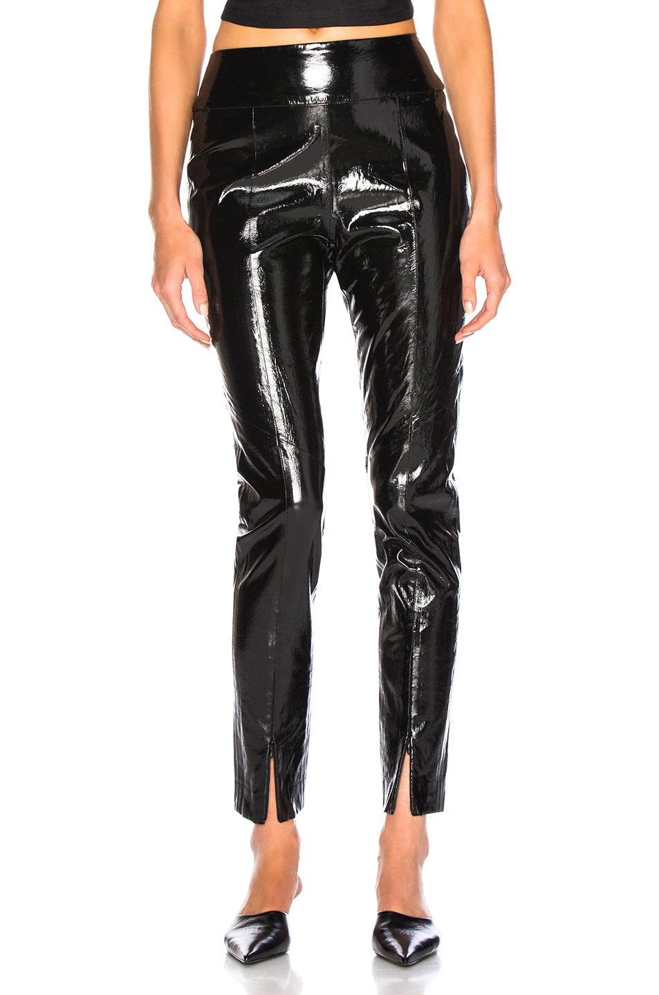 Image 1 of Michelle Mason Skinny Pant With Zip in Black