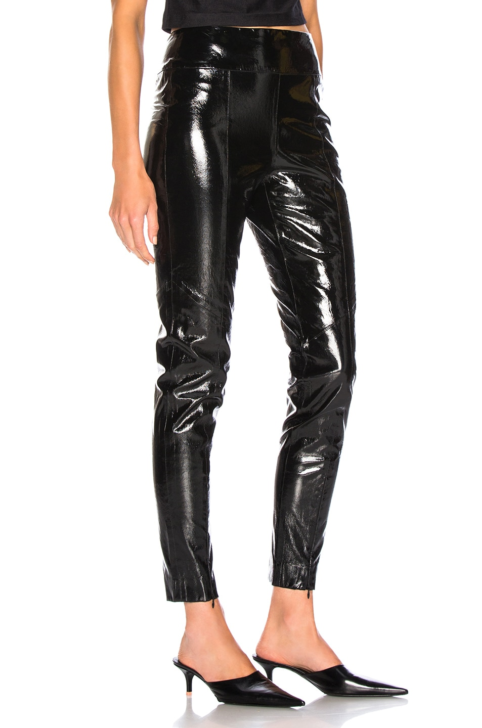 Image 2 of Michelle Mason Skinny Pant With Zip in Black
