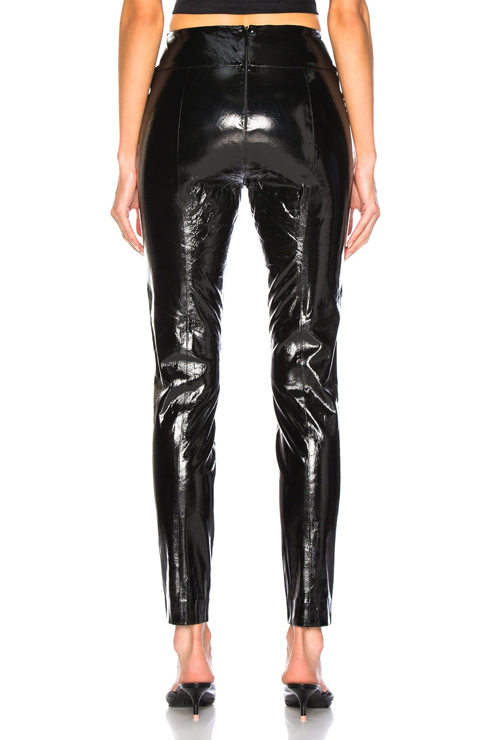 Image 3 of Michelle Mason Skinny Pant With Zip in Black