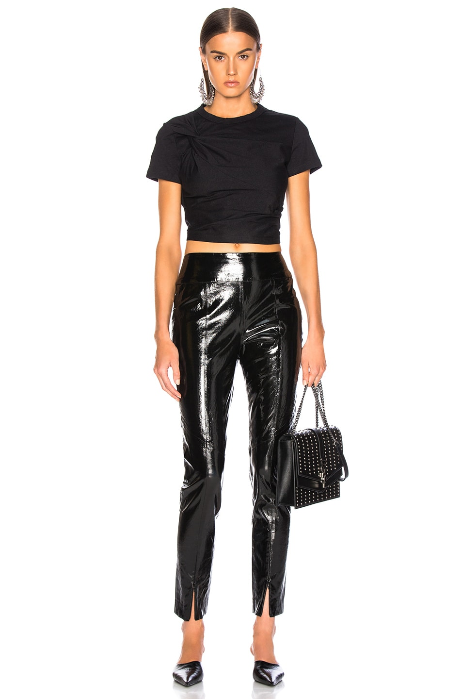 Image 4 of Michelle Mason Skinny Pant With Zip in Black