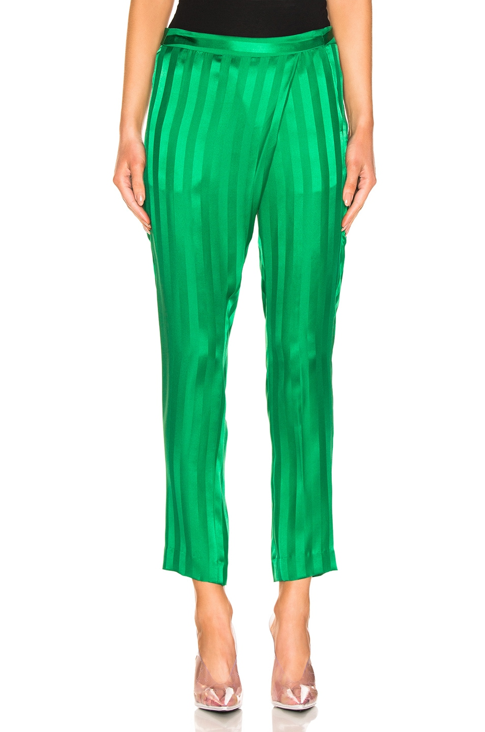 Image 1 of Michelle Mason Wrap Pant in Green