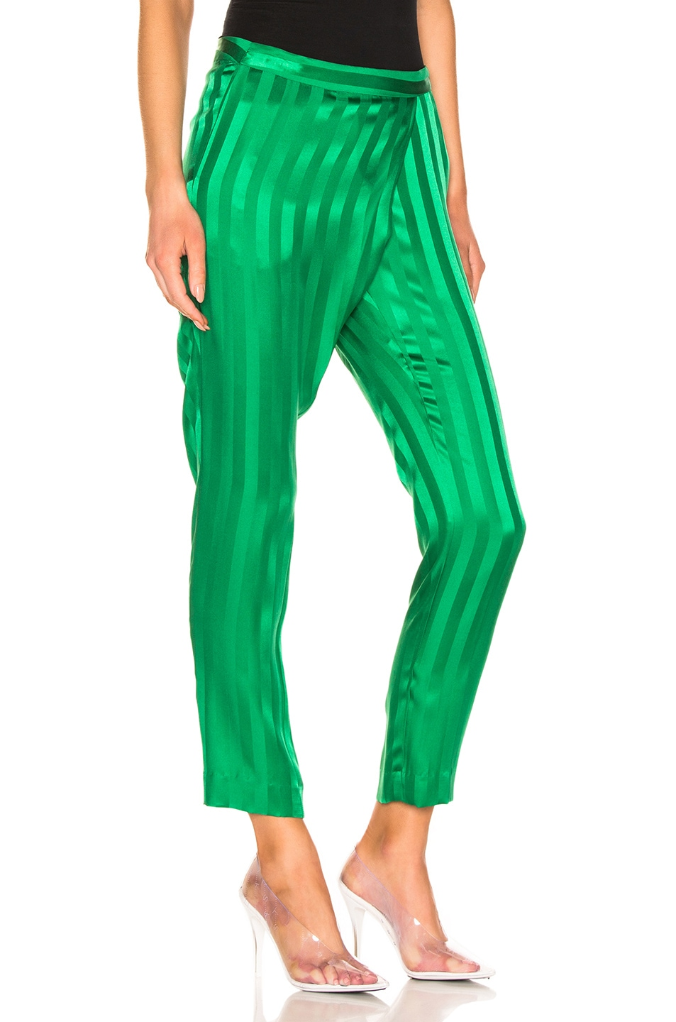 Image 2 of Michelle Mason Wrap Pant in Green