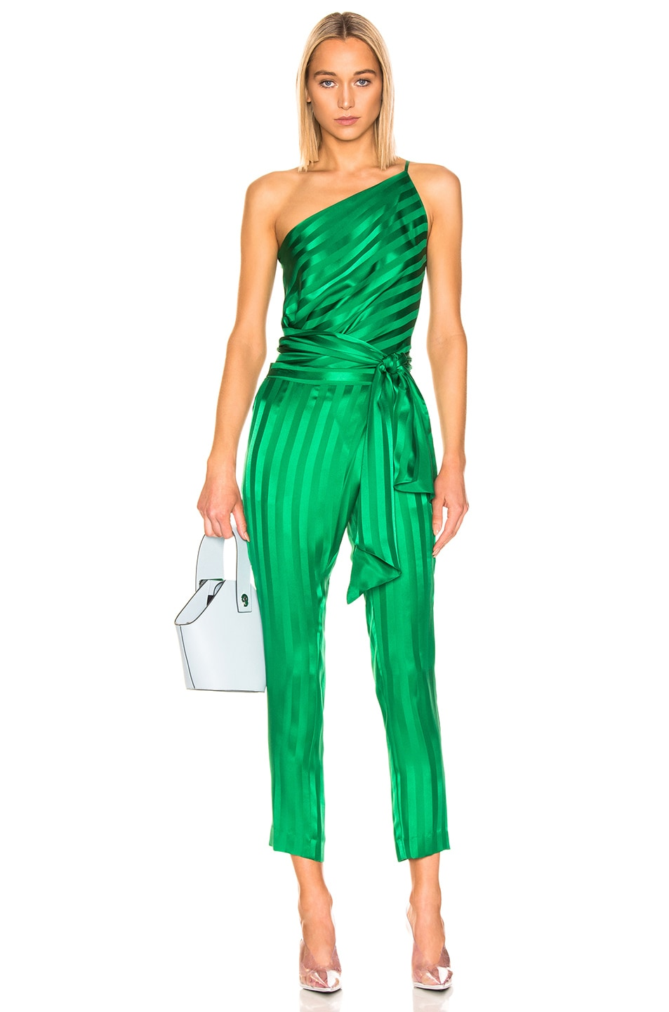 Image 4 of Michelle Mason Wrap Pant in Green