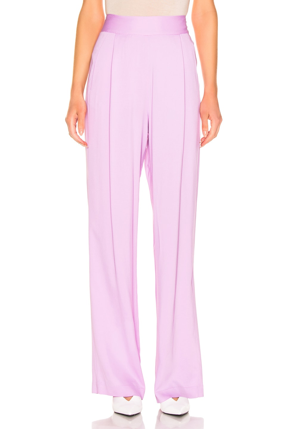 Image 1 of Michelle Mason Wise Leg Trouser in Lilac