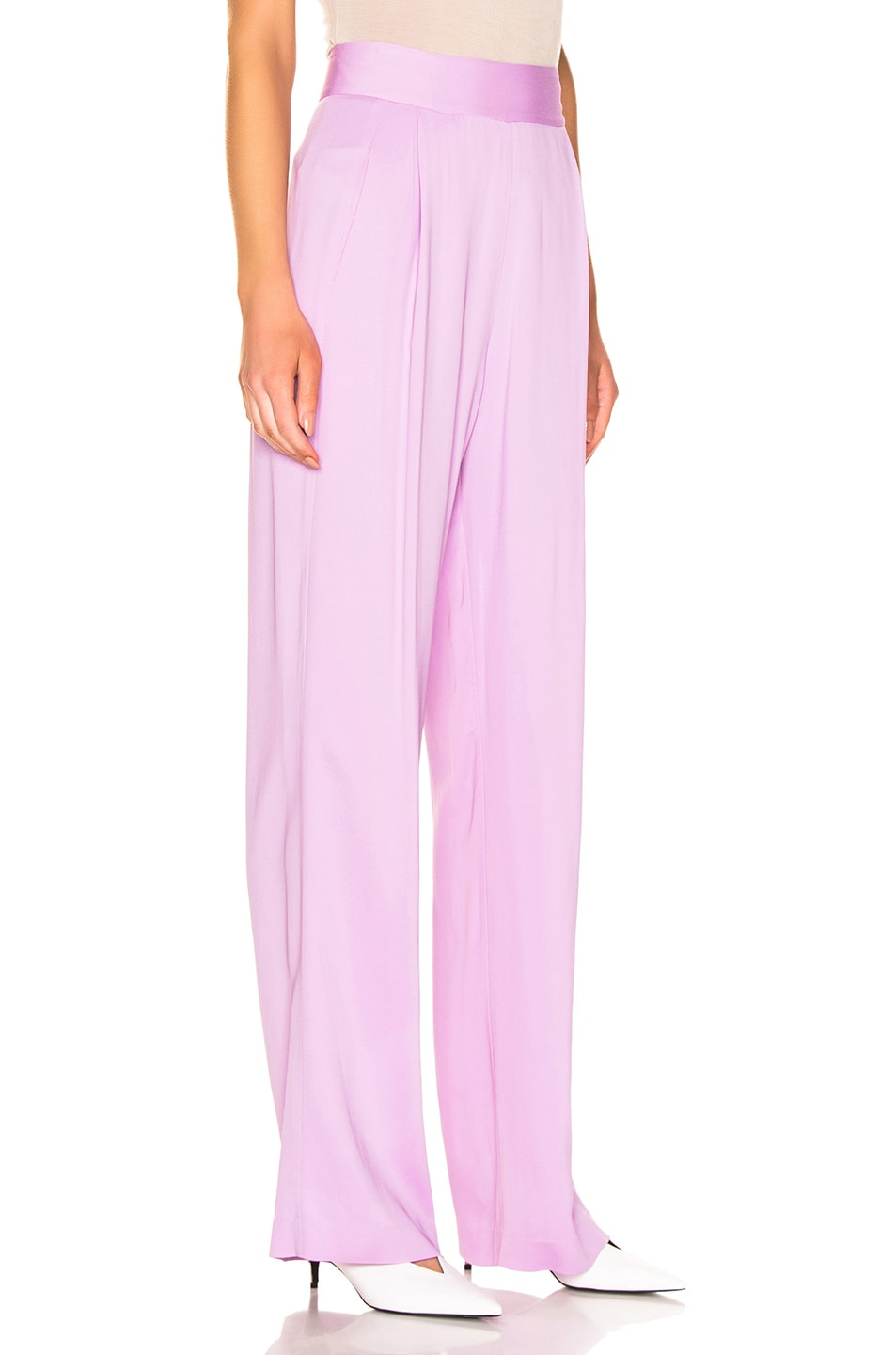 Image 2 of Michelle Mason Wise Leg Trouser in Lilac